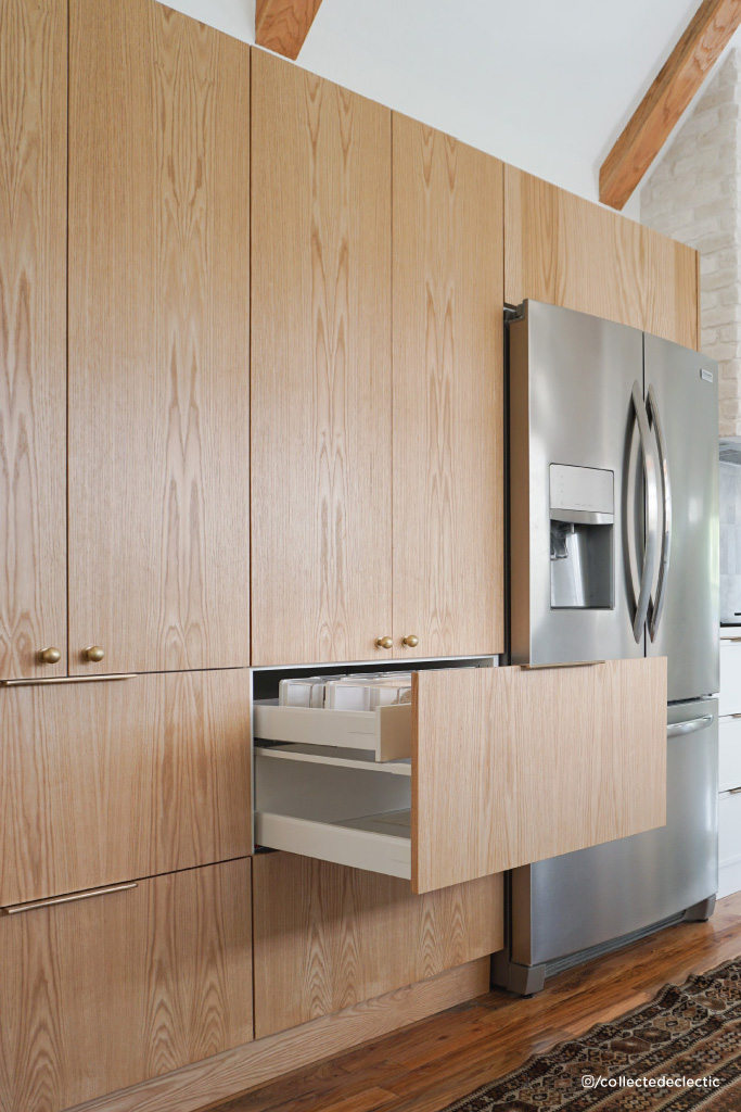 Collected Eclectic's kitchen custom cabinet fronts from The Cabinet Face