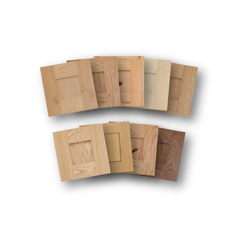 Solid Wood Shaker materials for IKEA custom cabinet fronts